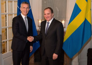 NATO Secretary General Jens Stoltenberg meets with the Prime Minister of Sweden Stefan Lofven