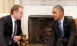 President Obama and the President of the European Council Donald Tusk, Washington DC 9 March 2015