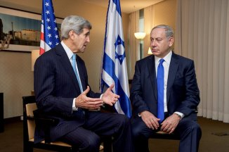 Secretary John Kerry with Prime Minister Benjamin Netanyahu October 22, 2015