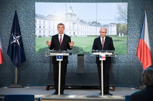 Joint press point with NATO Secretary General Jens Stoltenberg and the Prime Minister of the Czech Republic, Bohuslav Sobotka