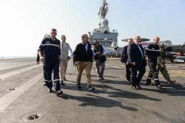 SD departs the deck of the flagship of the French Navy the Charles De Gaulle.