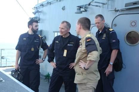 EU-Task-Force-Commander-Rear-Admiral-Jonas-Haggren-visited-German-Navy-frigate-FGS-Bayern 2015 EUNAVFOR