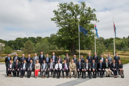 Major General Smith welcomed Ambassadors from EU to the EU Naval Force HQ in London July 16, 2015
