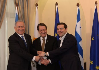 PM Netanyahu, President of Cyprus Anastasiades and Greek PM Tsipras 2016
