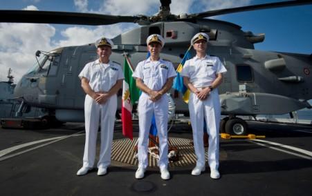 Rear Admiral Guido Rando, Deputy Commander of the EU Naval Force Rear, Admiral Paolo Pezzutti And The New Force Commander Rear Admiral Jonas Haggren, 2015 EUNAVFOR