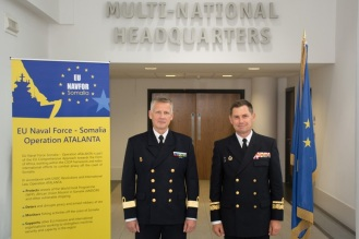 Rear Admiral Jonas Wikstrӧm (right) and Rear Admiral Cristobal Gonzalez-Aller (left) July 2016