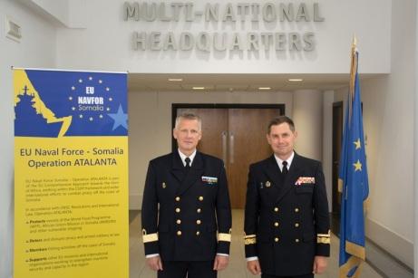 Rear Admiral Jonas Wikstrӧm (right) and Rear Admiral Cristobal Gonzalez-Aller (left) July 2016