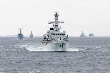UK RN in NATO excercise Norway 2016