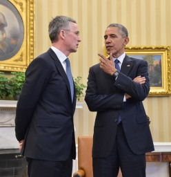 Bilateral meeting between NATO Secretary General Jens Stoltenberg and US President Barack Obama at the White House