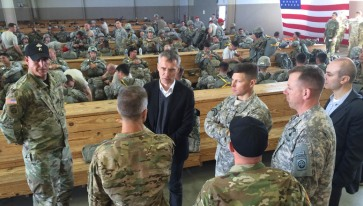 Secretary General Stoltenberg visited Fort Bragg in North Carolina April 5 2016
