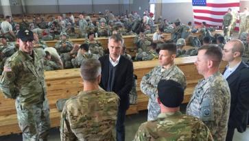 Secretary General Stoltenberg visited Fort Bragg in North Carolina April 5 2016