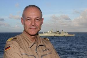Force Commander in Operation Atalanta Rear Admiral Jan Kaack EUNAVFOR June 2016