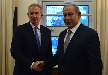 PM Blair and PM Netanyahu