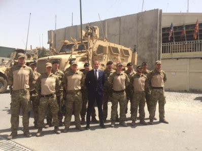 Foreing Minister Kristian Jensen visited Danish Troops in Afghanistan July 2016