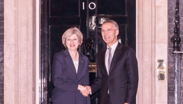 Bilateral meeting between NATO Secretary General Jens Stoltenberg and Prime Minister Theresa May