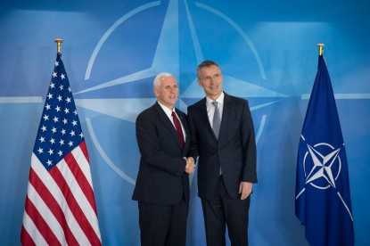 The Vice President of the United States of America, Michael Pence visits NATO and meets with NATO Secretary General Jens Stoltenberg